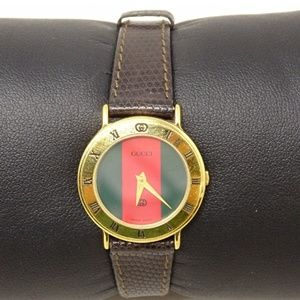 Gucci 30002 Gold Leather Watch